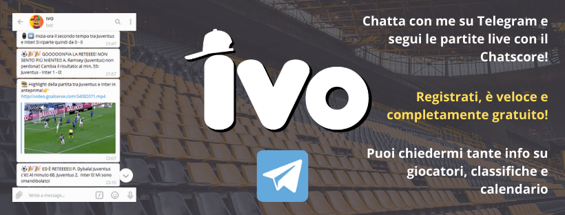 IVO il super assistente sportivo via chat! Made by IVE
